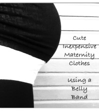 cute inexpensive maternity clothes, belly band review