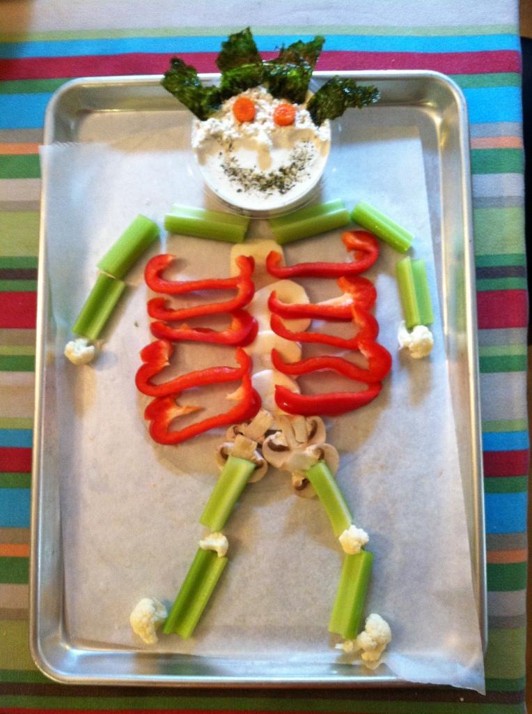 vegetable skeleton