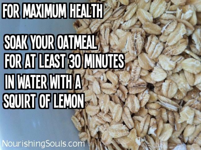 how to soak raw oatmeal
