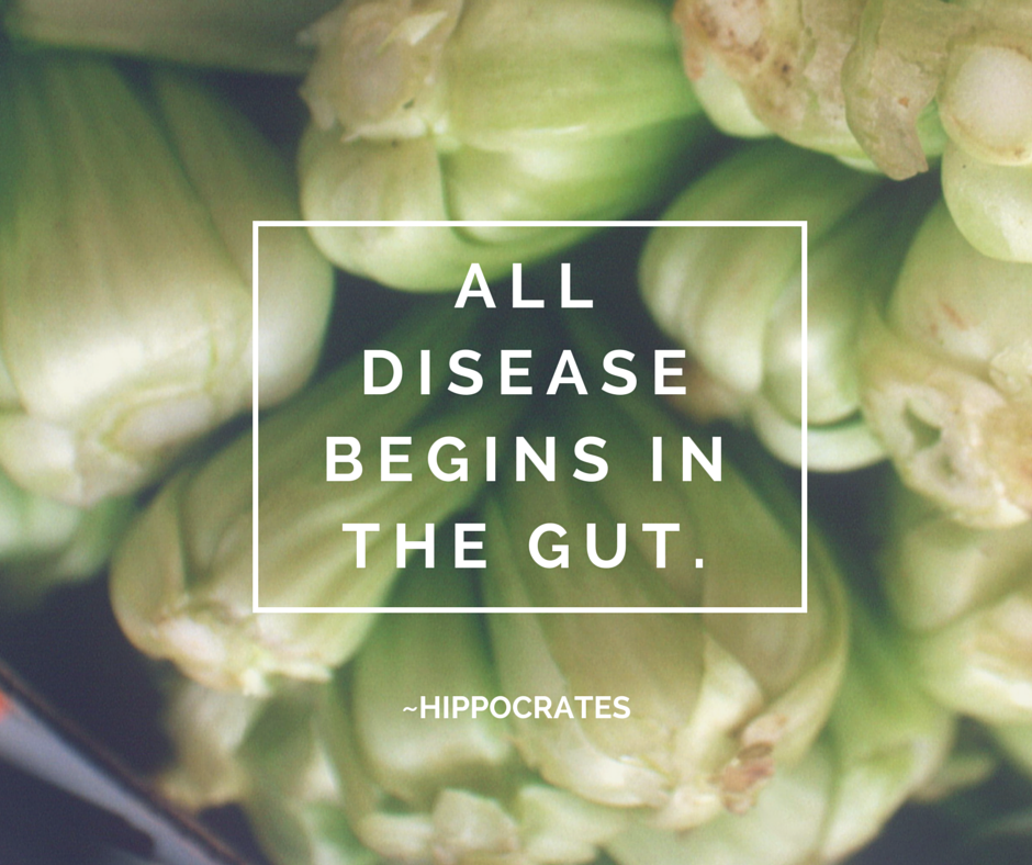 All Disease begins in the gut.